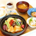 彩り蒸し野菜定食