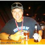 """Jay """"The Funologist"""" enjoying his 1st Gluten Free Beer at Altitudes Bistro on Grouse Mtn"""