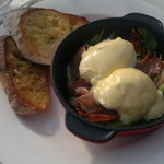 Baked eggs benny!!!! YUM