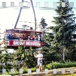 """Jay """"The Funologist"""" infront of the Famous Grouse Skyride Tram"""