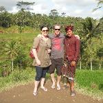 At rice terraces with Ketut