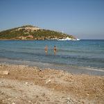 la plage a 5minute de l hotel(macinaggio)