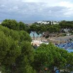 Pool and beach from roof