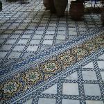 jeu de mosaïques au sol