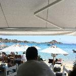 vista della spiaggia dal locale