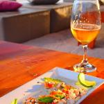 Fresh fish ceviche...straight from the sea.