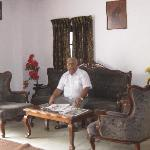 the friendly owner, Mr Shajahan, in the colonial reception