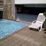 Pool and mini-waterfall