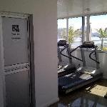 Sauna and fitness center