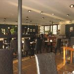 Lower deck, one of the waterside dining rooms