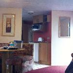 Living area of our caravan
