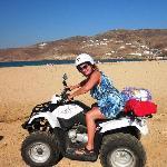 Narrow road provides access to beach via motor bike or ATV.