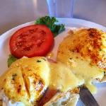 Eggs Benedict at Omelette Shop
