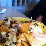 Breakfast burrito at Omelette Shop