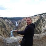 Ana at Yellowstone Falls.