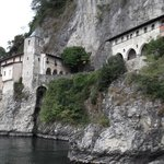A view of the Eremo from the boat on Lago Maggiore