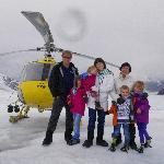 family fun on the cold Herbert Glacier