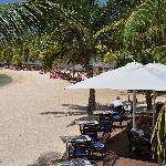 Resto sur la plage (à réserver le soir pour les amoureux)