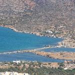 Overview of the villas on the peninsula of Spinalonga