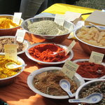 You could sample fresh-aromatic  herbs and exotic spices and buy in any quantity the fragrance o