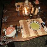 candle light dinner outside