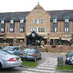 Front view of Village Hotel