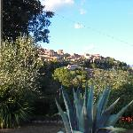 View of San Gimignano from the garden