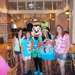 The girls @ breakfast with Minnie