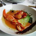 Wonderful lobster, crab, and leeks