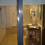 Bathroom taken from roof terrace