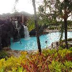 Lagoon waterfall