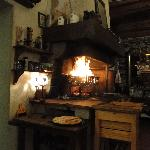 THE CRACKLING SPARKY OPEN FIRE FOR COOKING MEAT
