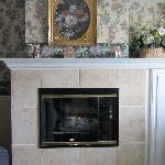 A fireplace to enhance the cosy feeling