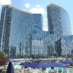 View of Aria Hotel from the pool