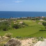 Par 3, Hole #6--Fantastic views and a massive drop to the green (not easy to see here).