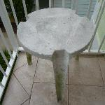 Grimy patio furniture