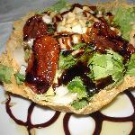 Salad at restaurant beside hotel - veggie heaven!