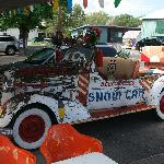 The famous Snow Cap car