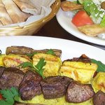 Kabob Combo with Pita and Salad