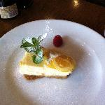 Baked limoncello cheesecake