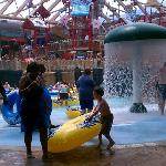 The indoor waterpark was great