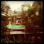 my room facing the pool