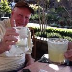 Wonderful Margaritas Outside at Poetscove Pub Restaurant
