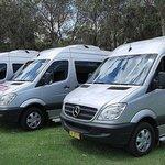 Fleet of luxury 14 passenger seat Mercedes Benz vehicles