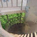Water tower stairs