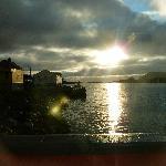 soleil de minuit sur la terrasse du Stappan