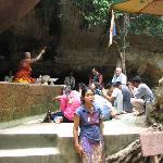 Phnom Kulen monk blessing worshippers