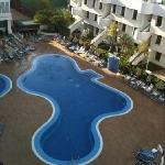 pool view from room 312 with air con