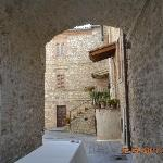 One of the alleyways within the Castello grounds