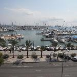 view of the boats from the hotel
